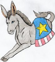 USA Donkey by ToxicDragonBlood