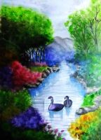 realistic nature painting by zhymae14