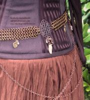 Brass and Copper Chainmail Belt - Display Outfit 4 by ulfchild