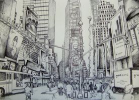 Times Square - Ballpoint pen by fabri360