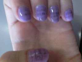 .:FAIL:. Newspaper nail art by wittlecabbage