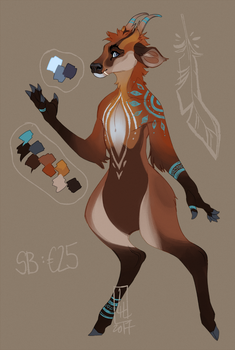 Muntjac Adoptable OPEN by LiLaiRa