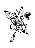 Tribal Scizor Commission by Friend-Owl