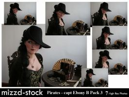 Pirates - Captain Ebony Black Portrait Pack 3 by mizzd-stock
