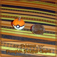 Pokemon Pumpkin Pokeball Charm by YellerCrakka