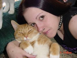 My baby Ollie and me by queenofcats81
