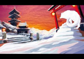 Japanese scenery by Aerinn-I