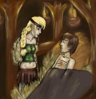 Astrid and Hiccup by ice-cold-flame