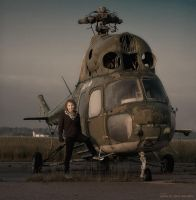 old helicopter by davenevodka