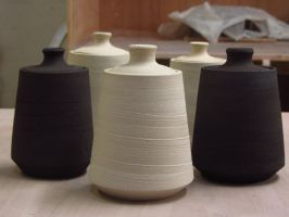 Lidded Salt/Sugar Pots by thedoctorbird
