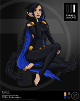 Trdl1617 Raven Teen Titans Redesign by TRDLcomics