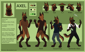 Commission - Axel - Reff Sheet by Viccinor