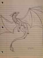 Rose the Dragon sketch - 11/15/12. HAPPY BIRTHDAY by Jestloo