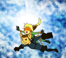 Flying in the sky by Sinveriex