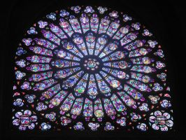 Notre Dame Stained Glass by ninjaskillz