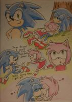 Sonic and Amy 4ever by ahitosinea