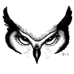 Great Horned Face by AKFrostwriter