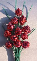 Red Purple Bouquet of Roses by reynaldomolinawire