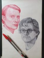 Hannibal 2013. WIP 3. Ballpoint pen by valakh