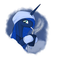 ink - luna with a cup of cocoa by zlack3r
