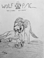 Prehistoric animals: Wolf hunt by OG7