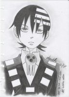 Death The Kid from Soul eater ( pencil ) by starz8zstar