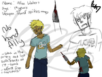 [CP OC] No Hand Ally draft sketches by lionpants99
