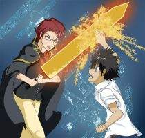 Battler vs Touma by zeniselv