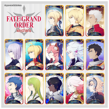 Fate/Grand Order Keychains by Dragons-Roar