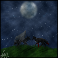 meeting under the moon light by ice-or-fire