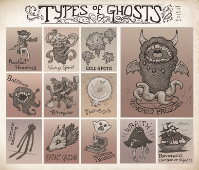 Types Of Ghosts by JoeWierenga