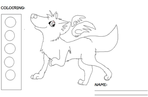 Free MS paint friendly winged wolf lineart by L-A-B-R-A-D-O-R