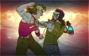 Party fight by Katerinich