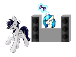 Look at the Moonlight dancing to your music ~ by Alrow