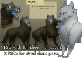 Winter Wolf Character Pack by SkulldogAdopts