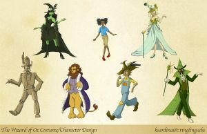 Wizard of Oz Redesigns by HauntedHouse667