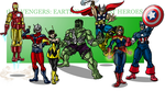 the Avengers: Earth's Mightiest Heroes by cheddarpaladin