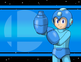 Megaman Joins the Battle! by faren916