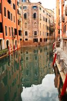 Venice - canal reflections 5 by wildplaces