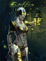 Girl with a lantern (firefly Brushes#1) by chirun