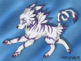 Garurumon, My Style by carrie-warwick