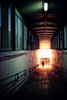Walking down the tunnel by kubica