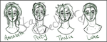 Percy Jackson Characters Sketch by Star-Freckler