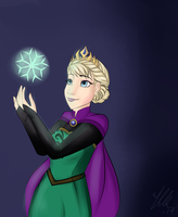 Queen Elsa by DeepBluuuue
