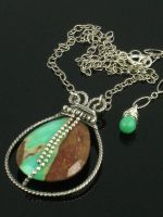 Chrysoprase Framed by AniqueDesigns