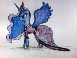 Lunas Coronation Dress by XxGalaxy