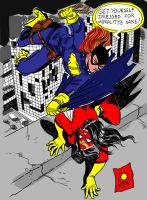 Batgirl Spiderwoman by caiooliveira