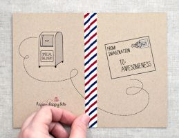 Special Delivery Mini Journal by happydappybits