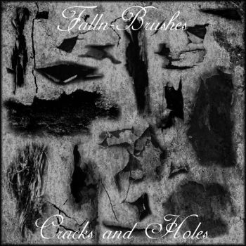 Cracks and Holes Brushes by Falln-Stock