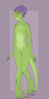 Iguana Anthro Custom for oKeaton by here-kitty--kitty